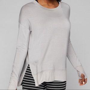 Athleta Coastal Luxe Pebble Gray Sweatshirt XS